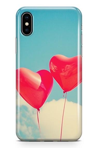 Lopard iPhone Xs Max Kılıf Silikon Arka Kapak Koruyucu Balon Rüyalar Desenli Full HD Baskılı Renkli